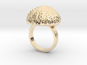 Urchin Statement Ring - US-Size 10 1/2 (20.20 mm) in 14k Gold Plated
