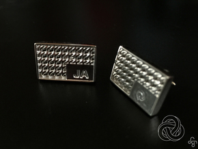 Chainmail Cufflinks in Polished Silver