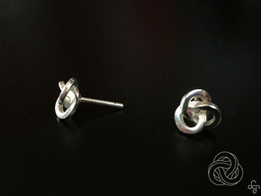 Trefoil Earrings in Polished Silver
