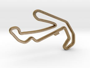 Misano World Circuit Marco Simoncelli Pendant in Polished Gold Steel