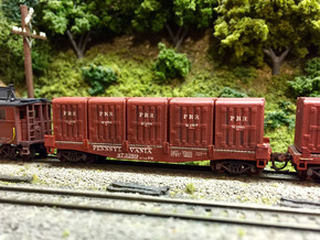PRR DD1 Containers in N scale in Frosted Ultra Detail