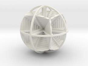 CUBES IN SPHERE in White Strong & Flexible
