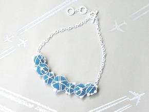 Cotton Cloud Move Necklace in White Strong & Flexible