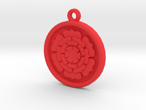 Rose Pendant For Shapeways in Red Strong & Flexible Polished
