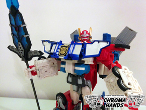 Omega Prime weapon adapter in White Strong & Flexible Polished