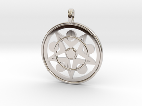 ATOM STAR FIVE in Rhodium Plated
