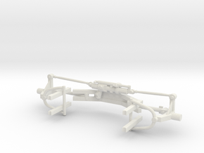 1/24th DLM Front Suspension Assembly in White Strong & Flexible
