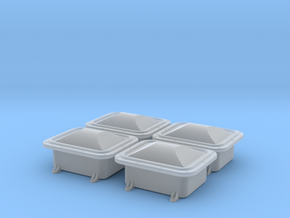 """Enclosure 13x10"""" domed cover 4pcs, 1/18 scale in Frosted Ultra Detail"""