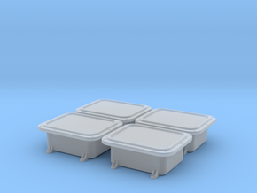 """Enclosure 13x10"""" flat cover 4pcs, 1/18 scale in Frosted Ultra Detail"""