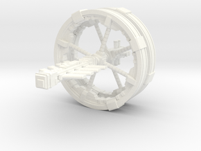 Futuristic space station concept (Large) in White Strong & Flexible Polished