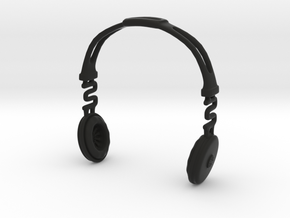 Headphones BOSS Version: BJD Doll MSD fourth size in Black Strong & Flexible