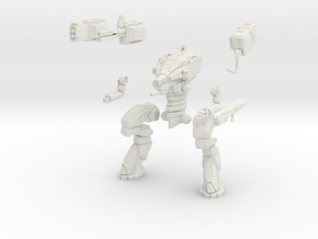 28mm scale mech - Wolverine in White Strong & Flexible