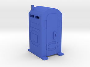 Porta Potty - HO 87:1 Scale in Blue Strong & Flexible Polished