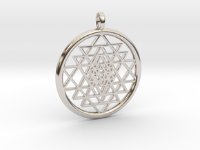 SRI YANTRA FRAME in Rhodium Plated