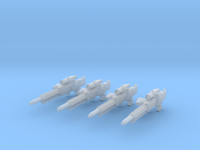 Gauss Rifle (1:18 Scale) 4 Pack in Frosted Ultra Detail