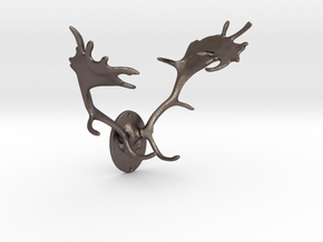 Fallow Deer Mount For Steel in Stainless Steel