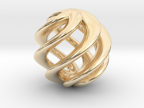 BALL TWIST in 14k Gold Plated
