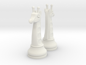 Pair Chess Giraffe Big / Timur Giraffe Zarafah in White Strong & Flexible
