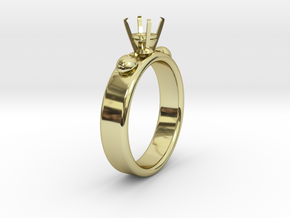 Ladybird Ring �14.73mm For �5mm Diamond size 46 in 18k Gold Plated