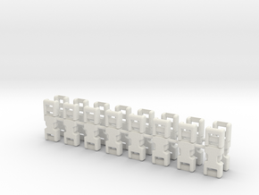 1/6 scale, 3mm Fixed Buckles X16 in White Strong & Flexible