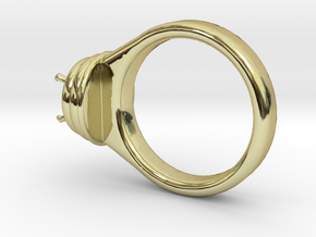 Alessa Design Ring �17.83mm  �8 Mm Diamond Fit in 18k Gold Plated