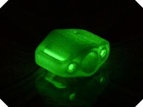 Pedal Bead Ver.1: Tritium (All Materials) in Transparent Acrylic