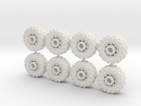 15mm diameter buggy/UTV wheels (8) in White Strong & Flexible