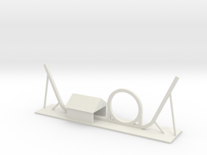 Shuttle Loop Roller Coaster in White Strong & Flexible