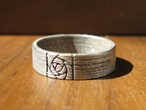 Arts and Crafts Rose Ring in Stainless Steel