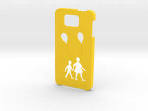 Samsung Galaxy Alpha Balloon case in Yellow Strong & Flexible Polished