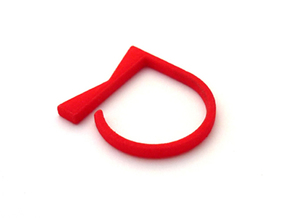 Adjustable ring. Basic model 4. in Red Strong & Flexible Polished