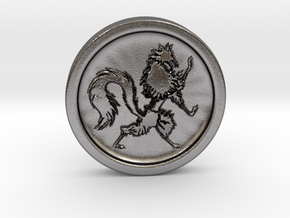 Resident Evil 2: Wolf medal in Polished Nickel Steel