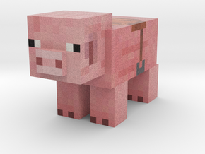 Pig (Saddle) in Full Color Sandstone