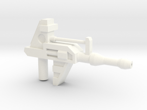 Strategic Gun (5mm handle) in White Strong & Flexible Polished
