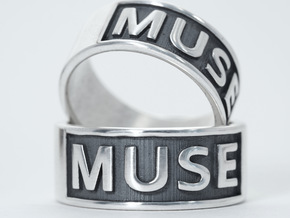 Muse Band Ring in Polished Silver