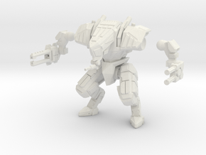 28mm scale mech - Guardian in White Strong & Flexible