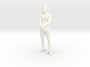 Strong male body 001 scale in 10cm in White Strong & Flexible Polished