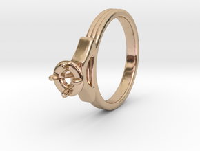ø18.80 Mm Diamond Ring ø4.8 Mm Fit in 14k Rose Gold Plated