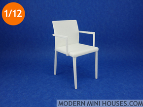 Willisau Vero Armchair with Armrests in White Strong & Flexible Polished