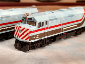 RTA/Metra F40PH Plow (N -1:160) 5X in Frosted Extreme Detail