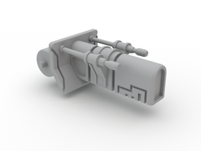 Turret Ion Cannon SW 130515 in White Strong & Flexible Polished