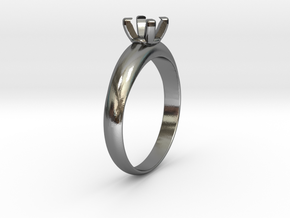 Ø19.70 Mm Diamond Ring Ø5.6 Mm Fit in Polished Silver