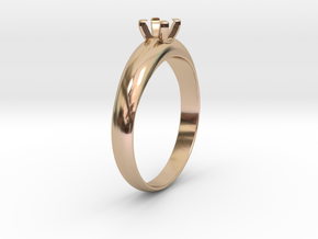 �19.70 Mm Diamond Ring �4.5 Mm Fit in 14k Rose Gold Plated