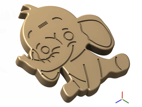 Cookie Cutter - Animal - Elephant in White Strong & Flexible