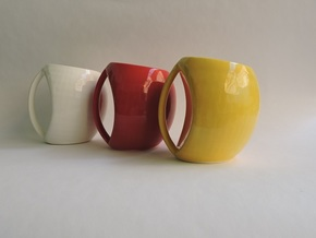 egg mug in Gloss Red Porcelain