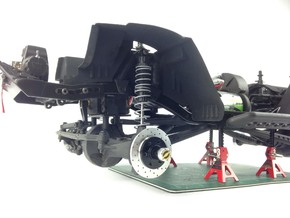 AD10003 Inner Fenders FRONT (SCX10) in Black Strong & Flexible