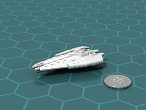 Tusokk Hammer class Battleship in White Strong & Flexible