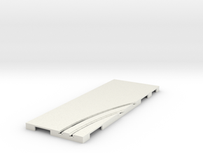 P-65stp-straight-rh-curve-inner-145r-75-pl-1a in White Strong & Flexible