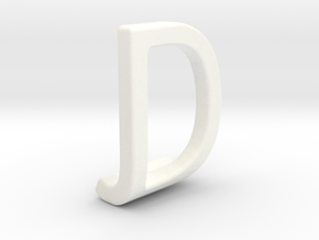 Two way letter pendant - DJ JD in White Strong & Flexible Polished