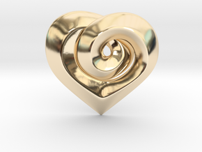 Twisted � Heart Pendant  in 14k Gold Plated